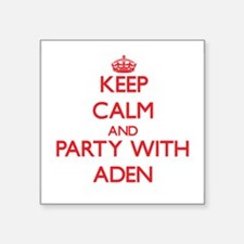 Keep Calm and Party with Aden Sticker