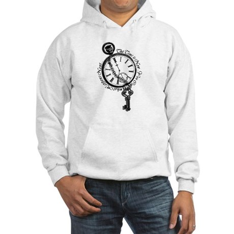 The Time Is Now! Clock And Key Hoodie