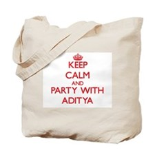 Keep Calm and Party with Aditya Tote Bag