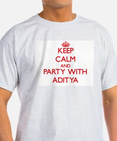 Keep Calm and Party with Aditya T-Shirt