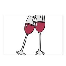 OYOOS Wine glass design Postcards (Package of 8)