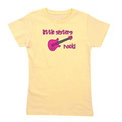 littlesistersrock_pink.png Girl's Tee