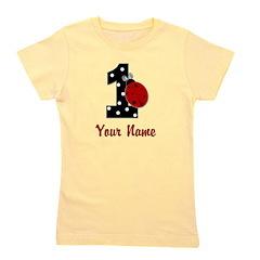 1 Ladybug ANY NAME! Girl's Tee