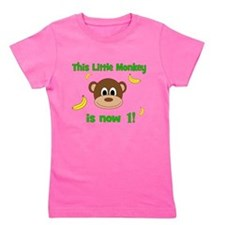 This Little Monkey is Now 1! with Bananas Girl's T