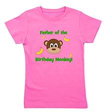 Father of the Birthday Monkey! Girl's Tee