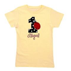 1 Ladybug - ABIGAIL - Birthday Custom Girl's Tee