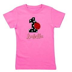 ISABELLA Ladybug 1st Birthday 1 Girl's Tee
