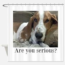 Annoyed Dog Shower Curtain