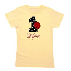 1st Birthday Ladybug - SKYLAR - Custom Girl's Tee