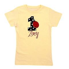 ZOEY Ladybug 1st Birthday 1 Girl's Tee