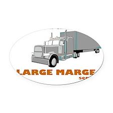 Large Marge Oval Car Magnet