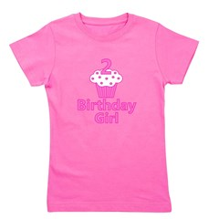 2nd Birthday Girl Cupcake Girl's Tee