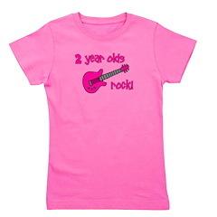2yearoldsrock_pinkguitar.png Girl's Tee