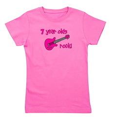7yearoldsrock_pinkguitar.png Girl's Tee