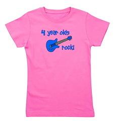 4yearoldsrock_blueguitar.png Girl's Tee