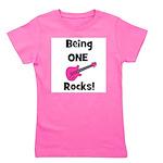 beingonerocks_pink.png Girl's Tee