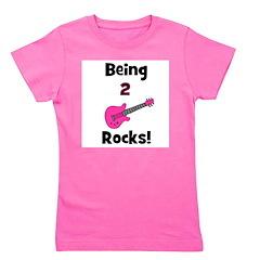 being2rocks_pink.png Girl's Tee