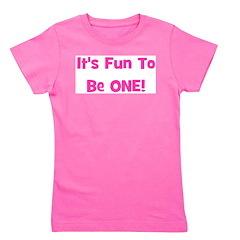 itsfuntobeone_pink.png Girl's Tee