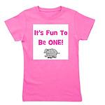 itsfuntobeone_pink_elephant.png Girl's Tee