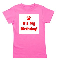 itsmybirthday_red_pawprint.png Girl's Tee