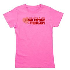 expectingalittlevalintineinfebruary.png Girl's Tee