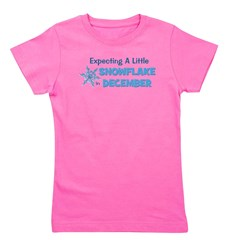 expectingalittlesnowflakeindecember.png Girl's Tee