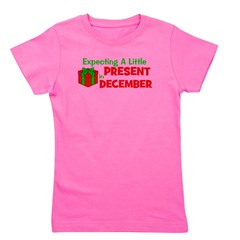 expectingalittlepresentindecember.png Girl's Tee