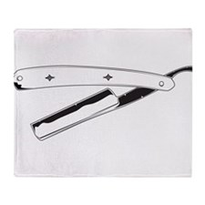 Straight Razor Throw Blanket