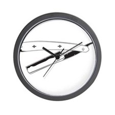 Straight Razor Wall Clock