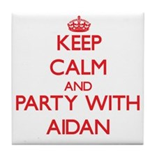 Keep Calm and Party with Aidan Tile Coaster