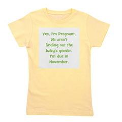 pregnant_november_TR.png Girl's Tee