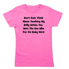 dontthinkabouttouchingbelly_black_TR.png Girl's Te
