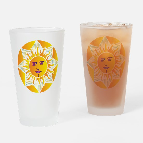 Smiling Sun Drinking Glass
