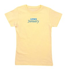 dueinjanuary_blue_TR.png Girl's Tee