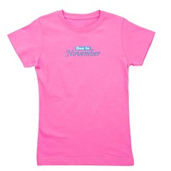dueinnovember_blue_TR.png Girl's Tee