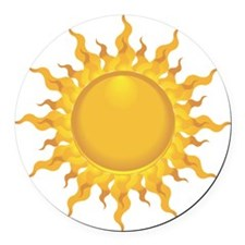 Sun Round Car Magnet