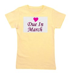 pinkheart_duein_march.png Girl's Tee