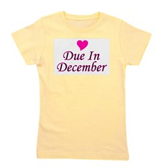 pinkheart_duein_december.png Girl's Tee