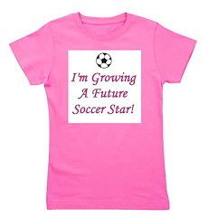 imgrowingafuturesoccerstar_pink.png Girl's Tee
