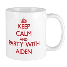 Keep Calm and Party with Aiden Mugs