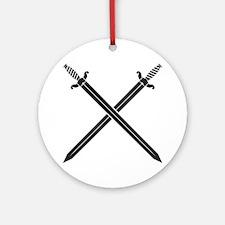 Crossed Swords Ornament (Round)