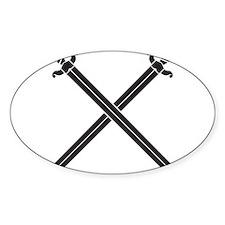Crossed Swords Decal