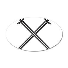 Crossed Swords Wall Decal