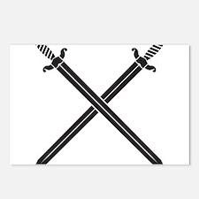 Crossed Swords Postcards (Package of 8)