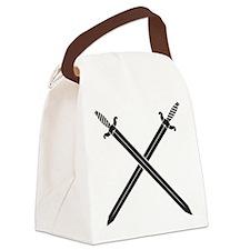 Crossed Swords Canvas Lunch Bag