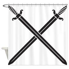 Crossed Swords Shower Curtain