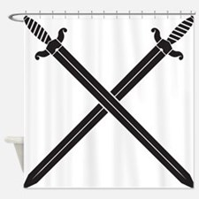 Crossed Swords Shower Curtain