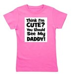 thinkimcute_daddy_black.png Girl's Tee