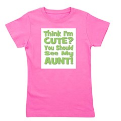 thinkimcute_aunt_green.png Girl's Tee