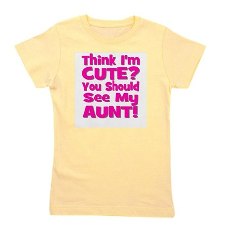 thinkimcute_aunt_pink.png Girl's Tee